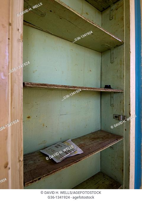 Empty pantry in a foreclosed home in Los Angeles, California, United States