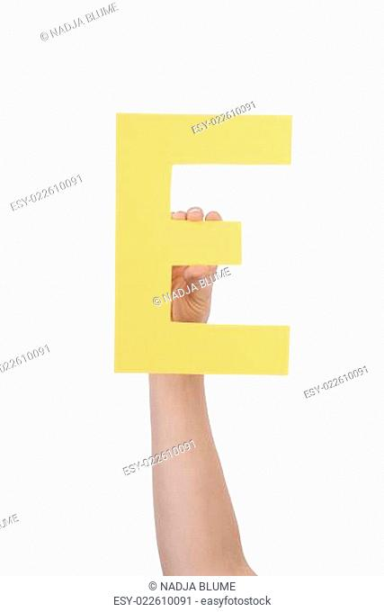 Hand With E
