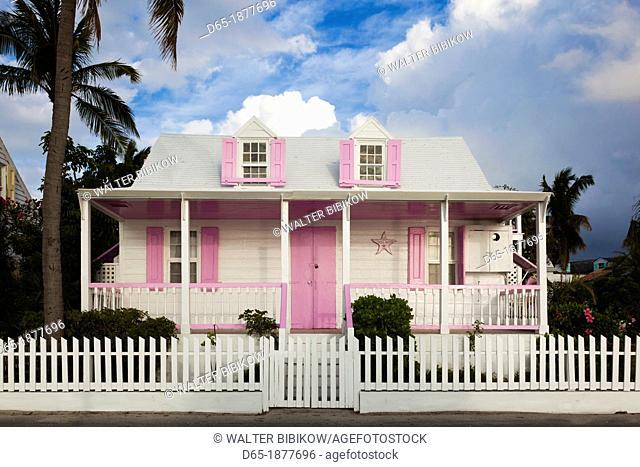 Bahamas, Eleuthera Island, Harbour Island, Dunmore Town, Colonial-era house along Bay Street