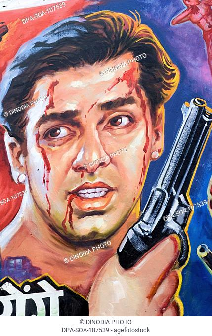Salman khan  Film Poster ; Mumbai Bombay ; Maharashtra ; India