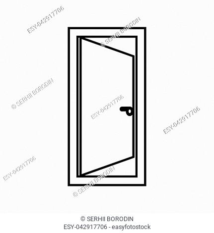 Door it is black color icon