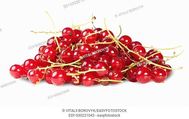 Bunch Of Red Currant Isolated On White Background