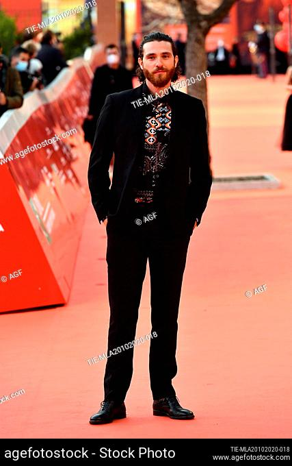 "Francesco Ferdinandi attends the red carpet of the movie """"Fortuna"""" during the 15th Rome Film Festival on October 19, 2020 in Rome, Italy"