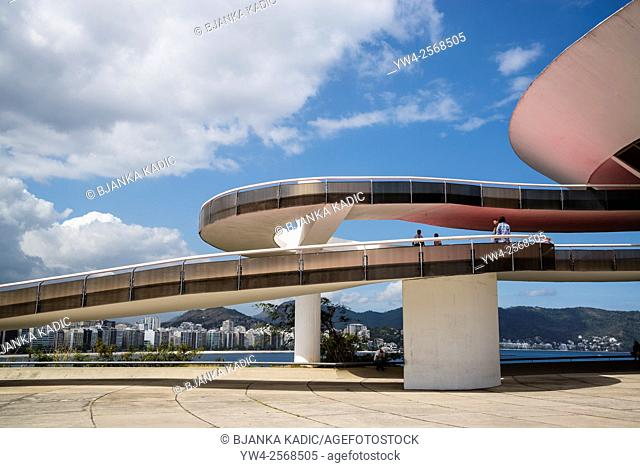 Niteroi Contemporary Art Museum, Museu de Arte Contemporanea de Niteroi, MAC, Niteroi, Rio de Janeiro, Brazil