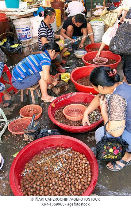 Market scenes, Market Rongjiang, Rongjiang, Guizhou, China