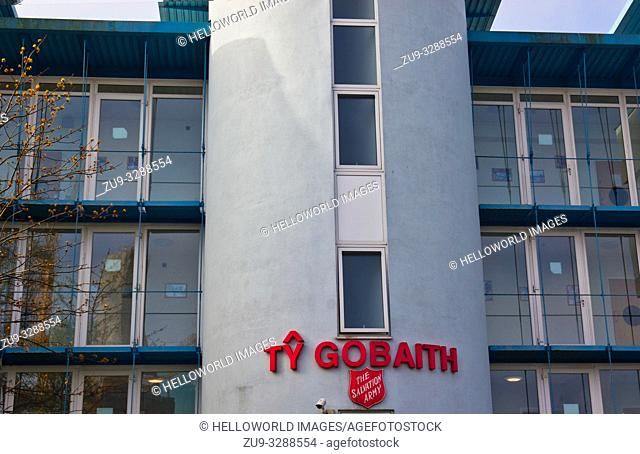 Ty Gobaith Lifehouse for the homeless (Salvation Army), Bute Street, Cardiff, Wales, United Kingdom