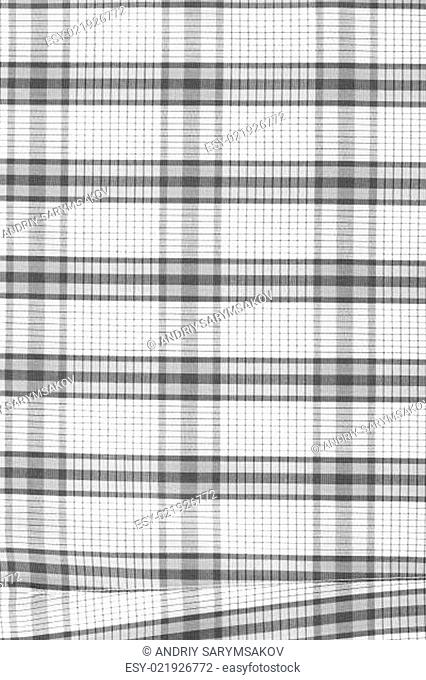 abstract geometric black and white print on fabric