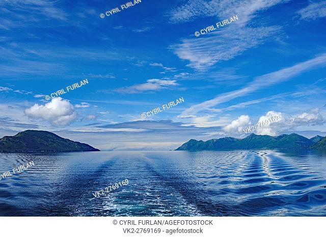 Ship wake Shelikof Strait Ak
