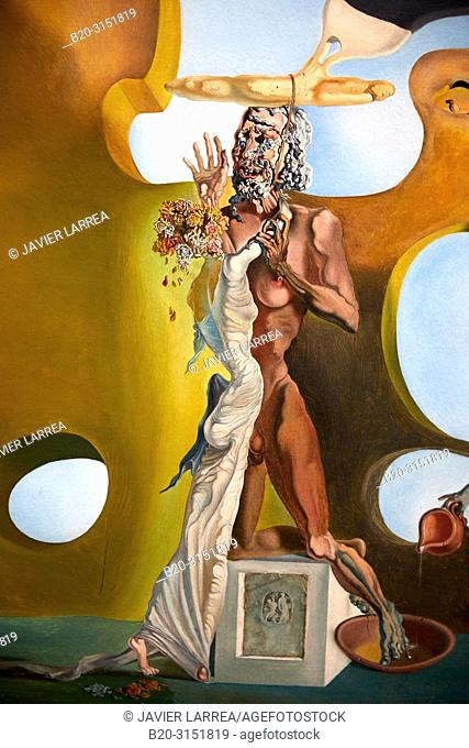 """""""""""""""Birth of liquid desires"""""""", 1932, Salvador Dalí, Exhibition """"""""Gala Salvador Dalí. A Room of One's Own in Púbol"""""""", National Museum of Catalan Art"""