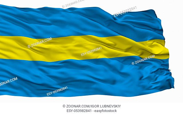 Slauharad City Flag, Country Belarus, Isolated On White Background