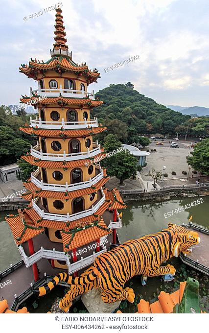 Tiger Pagoda at Lotus pond, Kaohsiung, Taiwan