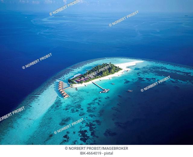 Mayaafushi Island Resort, offshore coral reef, Ari Atoll, Indian Ocean, Maldives