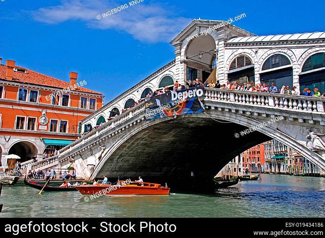Rialto Brücke Kanal de Grande in Venedig