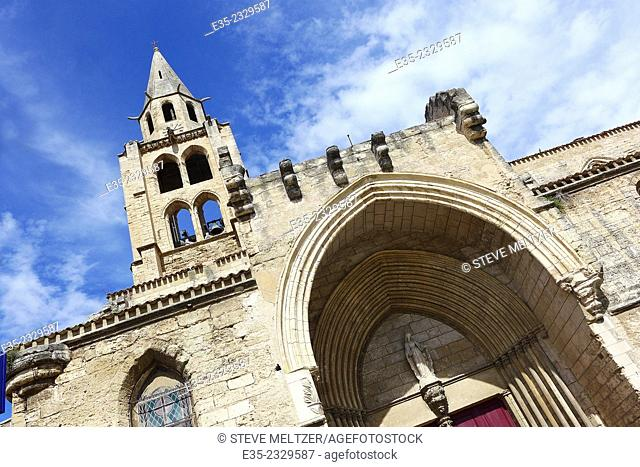 The 12th Century church of Saint ander in Montagnac, France