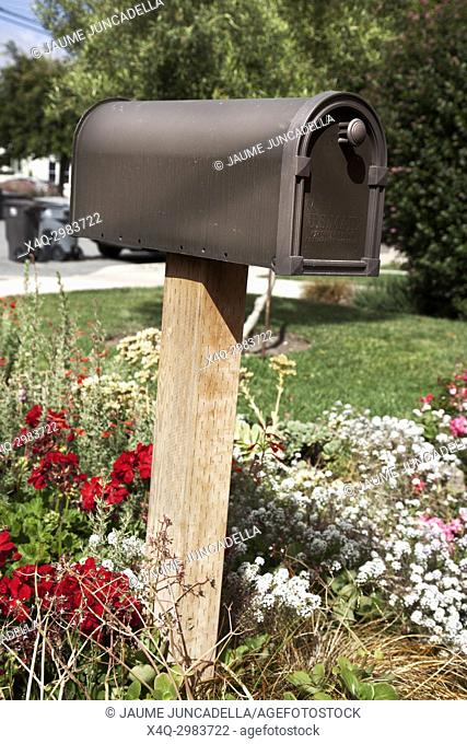 Letter box in a garden on Salinas. California, USA