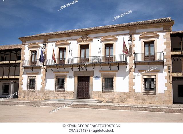 Town Hall in the Main Square, Tembleque, Castilla La Mancha, Spain