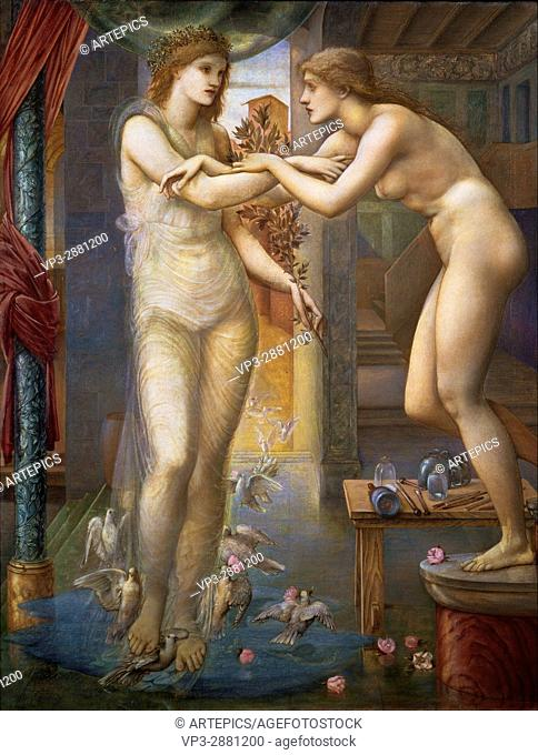 Edward Burne-Jones - Pygmalion and the Image - The Godhead Fires - Birmingham Museum and Art Gallery