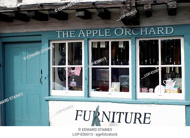 England, Buckinghamshire, West Wycombe, Traditional furniture shop in West Wycombe. West Wycombe village is owned by the National Trust