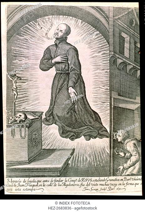 San Ignacio de Loyola (Iñigo Lopez de Loyola). (1491-1556), in full levitation living in Barcelon?