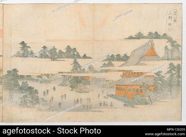 Edo hakkei/Eight Views of Edo. Artist: Utagawa Toyohiro (Japanese, 1763-1828); Period: Edo period (1615-1868); Date: ca. 1771; Culture: Japan; Medium: Bound...