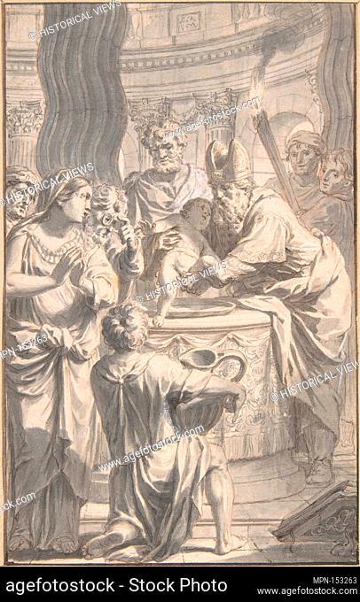 The Circumcision. Artist: Gerard de Lairesse (Dutch, Liège 1641-1711 Amsterdam); Date: mid-17th-early 18th century; Medium: Pen and grayish brown ink