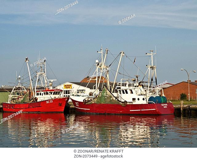 Fishing Harbour in Buesum, Germany