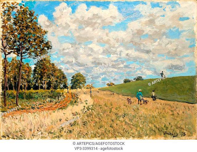 ALFRED SISLEY (1839 - 1899) - LES CHASSEURS LISIRE DE LA FORT DE MARLY EN AUTOMNE -1875