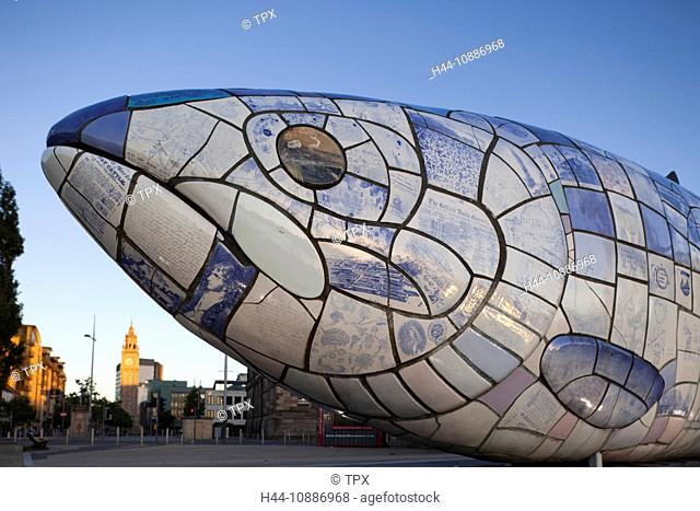 Northern Ireland, Belfast, The Big Fish by John Kindness on Donegall Quay
