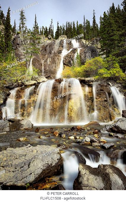 Tangle Falls along the Icefields Parkway, Jasper National Park, Alberta, Canada