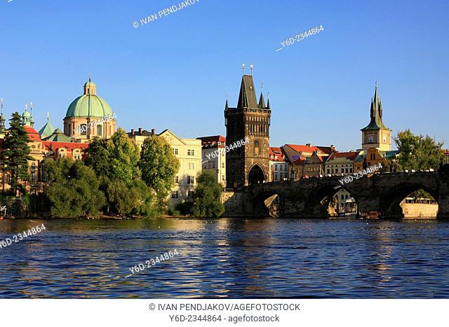 The Old Town and Vltava River, Prague, Czech Republic