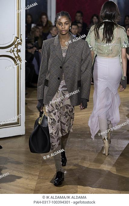 JOHN GALLIANO'Äã runway show during Paris Fashion Week, Pret-a-Porter Autumn Winter 2018 - 2019 collection - Paris, France 04/03/2018