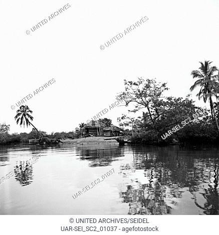 Am Rio Magdalena, Kolumbien 1960er Jahre. At the Magdalena River, Colombia 1960s
