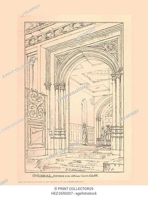 Guild Hall Entrance, 1815, (1886). Artist: Robert Blemmell Schnebbelie