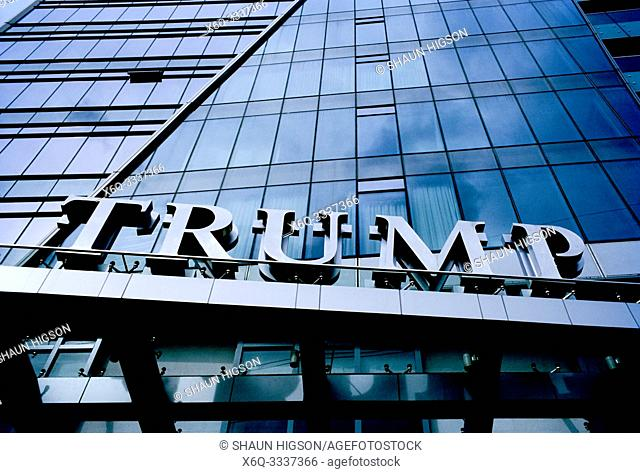 Trump Tower in Makati in Manila in Luzon Metro Manila in the Philippines in Southeast Asia Far East