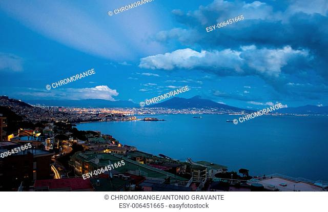 Best view of the gulf of Naples by night