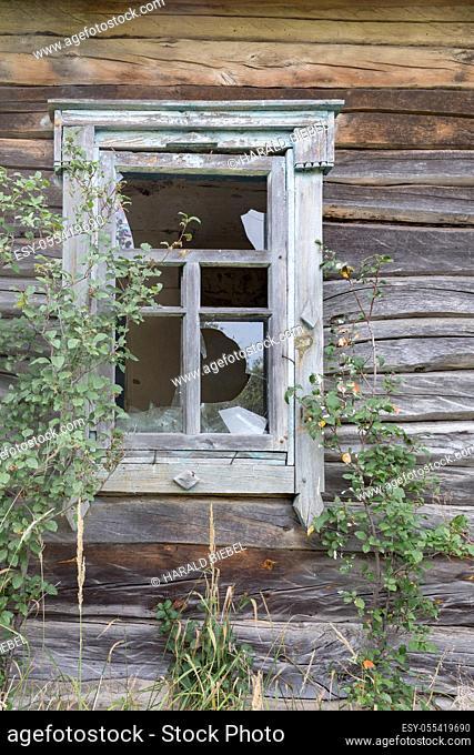 window, dilapidated, house ruin