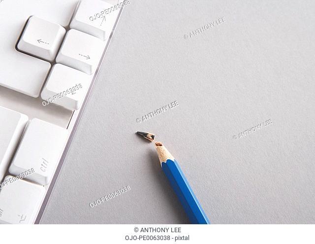 Close up of broken pencil lead