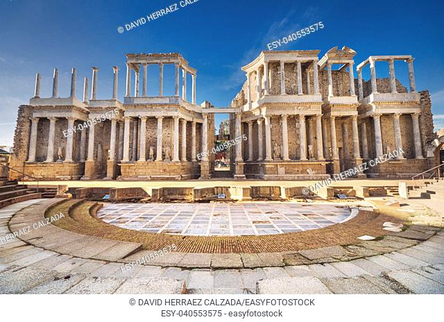 Merida roman theater, Merida, Extremadura, Spain