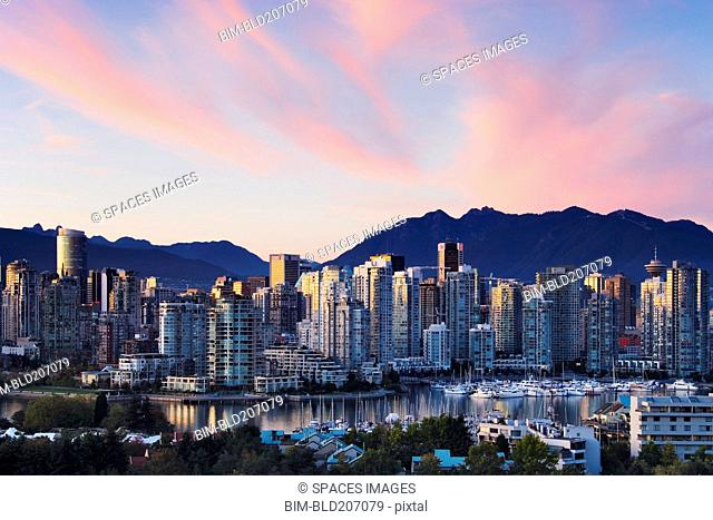 Downtown Vancouver Skyline at Dusk