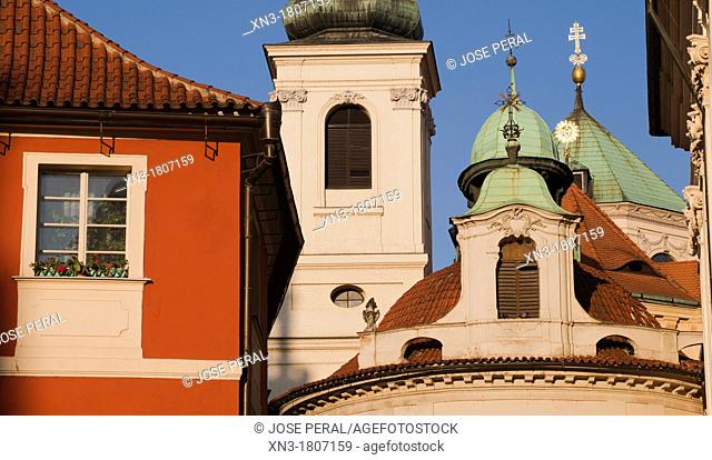 At right Saint Saviour Church, is one of the most precious early Baroque monuments in Prague  This former main Jesuit church in Bohemia forms the south-west...
