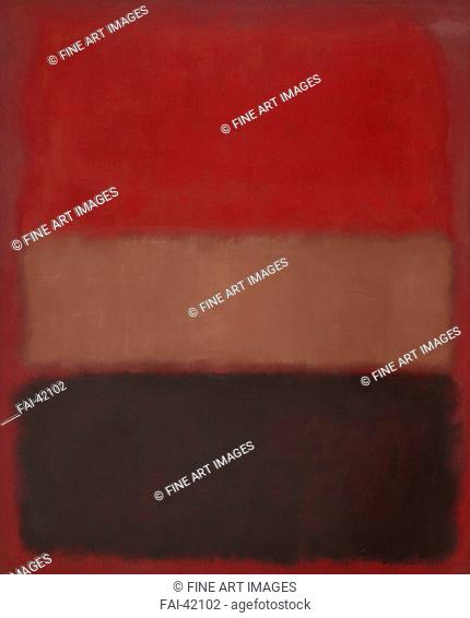 No. 46 (Black, Ochre, Red Over Red) by Rothko, Mark (1903-1970)/Oil on canvas/Abstract expressionism/1957/The United States/Museum of Contemporary Art