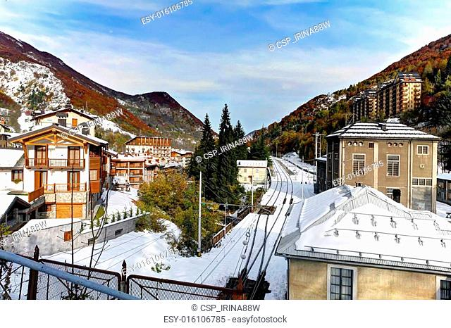 Limone Piemonte, Italy. Ski resort town. Beginning of Nov.2011