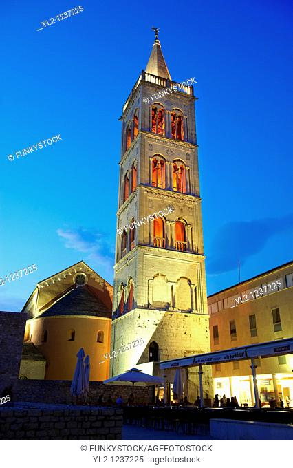 The Campinale bell tower of the St Anastasia Cathedral  Zadar, Croatia