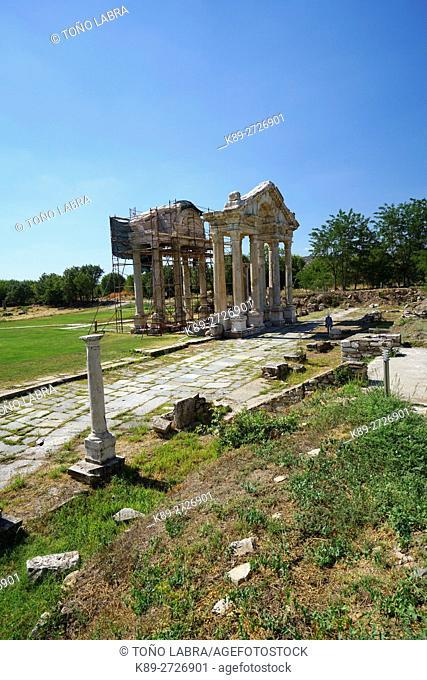 Aphrodisias Tetrapylon. Ancient Greece. Asia Minor. Turkey