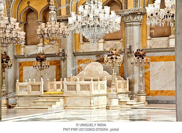 Interior of a Palace, Chowmahalla Palace, Hyderabad, Andhra Pradesh, India