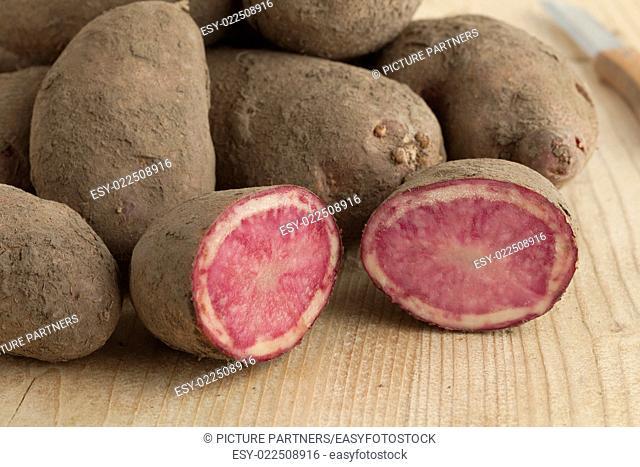 Fresh raw Highland Burgundy Red potatoes
