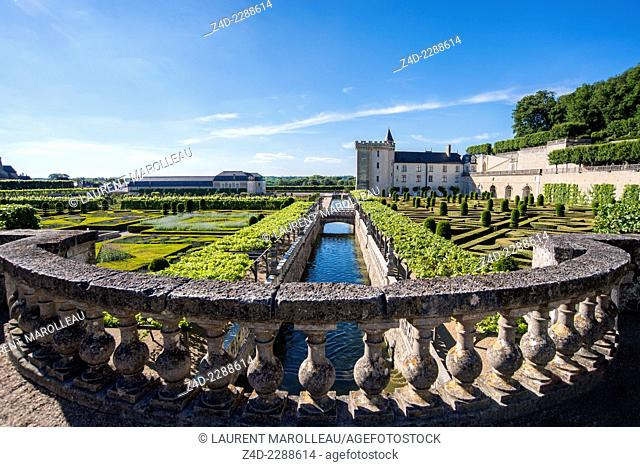 Gardens and Château de Villandry. Its famous Renaissance gardens include a water garden, ornamental flower gardens, and vegetable gardens