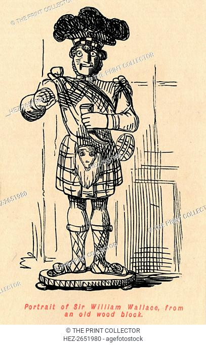 'Portrait of Sir William Wallace, from an old wood block', c1860, (c1860). Sir William Wallace (died 1305) a Scottish knight who became one of the leaders...