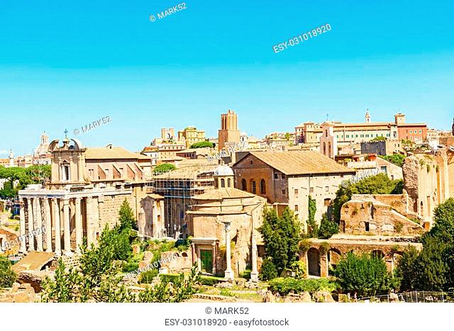 The Temple of Antoninus and Faustina and temple of Romulus is an ancient Roman temple in Rome, adapted to the church of San Lorenzo in Miranda