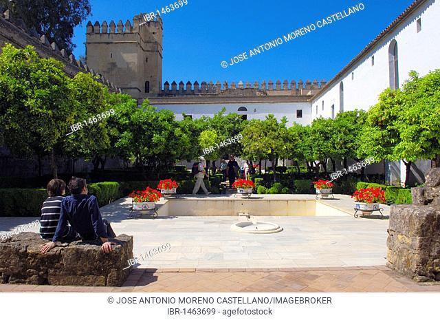 Alcázar de los Reyes Cristianos, Alcazar of Catholic Kings, Cordoba, Andalusia, Spain, Europe